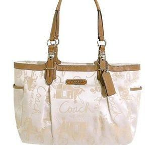 Coach Horse & Carriage Gallery Tote Jacquard